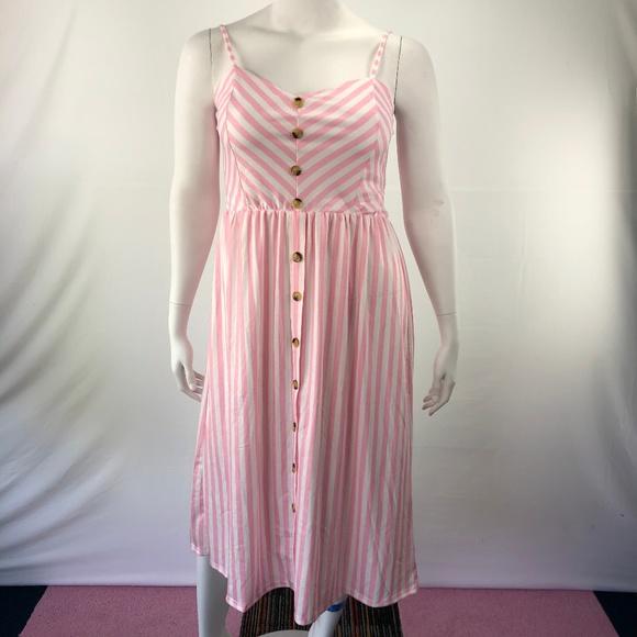 Dresses & Skirts - Loose Long XL Button Front Sleeveless Sexy Dress